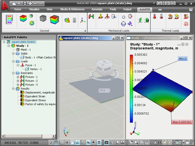 AutoFEM Analysis Lite screenshot