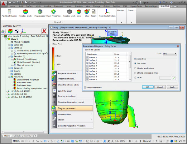 AutoFEM Analysis - Finite Element Analysis for AutoCAD users