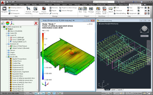 Calculation example: finite-element modelling of ShipConstruction assembly