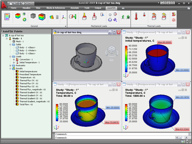 Click to view AutoFEM Thermal Analysis screenshots