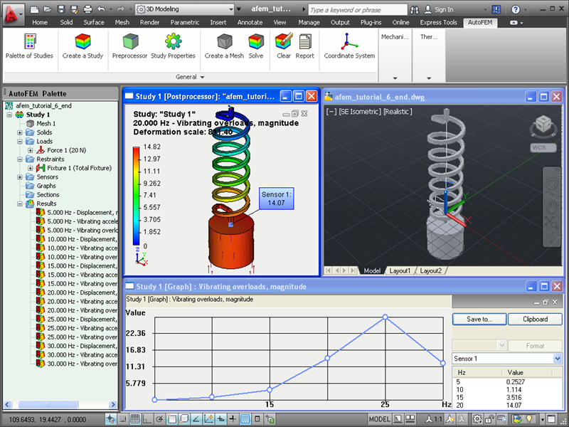 AutoFEM Analysis Lite provides the free finite element analysis for AutoCAD