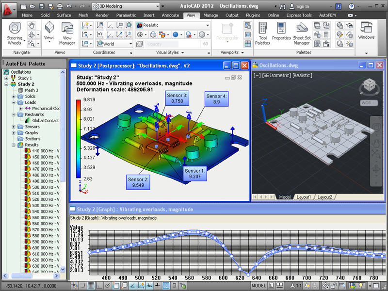 AutoFEM Forced Oscillations Analysis full screenshot